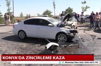 Konya'da zincirleme trafik kazası! 5 yaralı