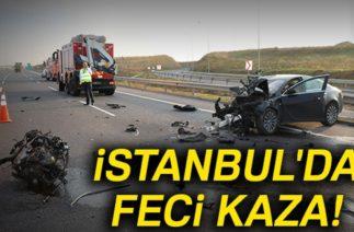 Kuzey Marmara Otoyolunda Trafik Kazası 1'i Ağır 2 Yaralı