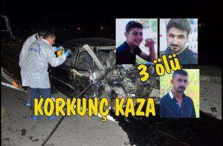 Osmaniye'de korkunç kaza 3 ölü 3 yaralı