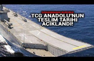 SİHA ÜSSÜ OLACAK TCG ANADOLU TÜRK DONANMASINA KATILIYOR ! 2020