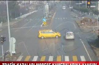 TRAFİK KAZALARI MOBESE KAMERALARINA YANSIDI (26.03.2020)