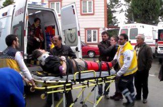 Ulus'ta trafik kazası, 4 yaralı