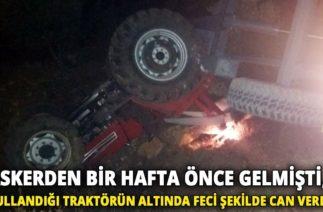 Yayladağı'nda Trafik Kazası, Traktör Devrildi: Ölü 1