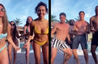 Watch Hannah Brown and Tyler Cameron TikTok in Their Swimsuits