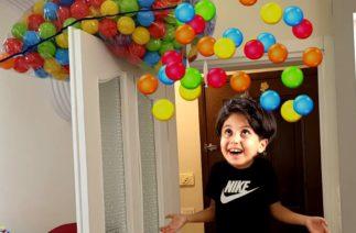 En Komik Saklambaç ! Ali Keremiko, Sado and Mom – Hide and Seek with colorful balls funny kid video