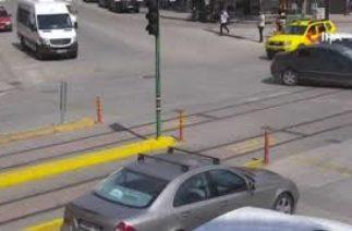 Eskişehir'deki trafik kazaları MOBESE kameralarına böyle yansıdı