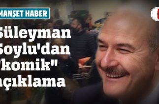 """SÜLEYMAN SOYLU'DAN """"KOMİK"""" AÇIKLAMA"""