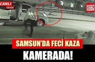 Samsun'da Feci Kaza Kamerada!