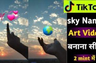 Tiktok New Trend | Tiktok Sky Name Art | Tiktok Name Editing Video | Name Art Video Editing
