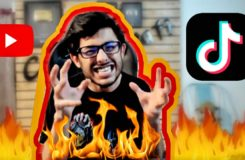 @CarryMinati Reaction after his DELETED Youtube VS TikTok Roast Video