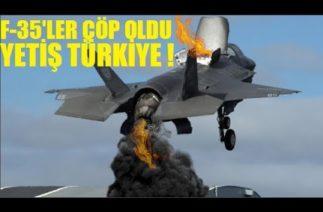 F-35'LER ÇÖP OLDU ! TÜRKİYESİZ PARÇA ÜRETİLEMİYOR ! 10 PARÇADAN 7'Sİ DEFOLU !!