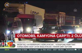 Küçükçekmece'de trafik kazası: 2 kişi hayatını kaybetti
