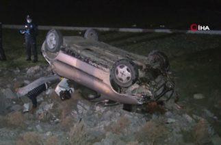 Konya'da Trafik Kazası, Kontrolden Çıkan Otomobil Takla Attı; 1 Ölü
