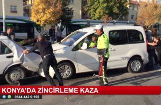 Konya'da zincirleme trafik kazası: 4 yaralı