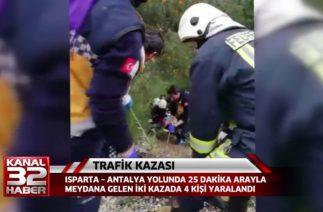 TRAFİK KAZASI ISPARTA ANTALYA