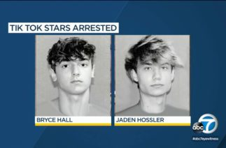 TikTok stars Bryce Hall and Jaden Hossler arrested during a road trip