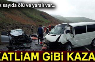 Erzurum'da Katliam Gibi Kaza: 5 ölü, 10 Yaralı