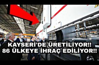 Kayseri'den 5 Kıtada 86 Ülkeye Makine İhracatı Başarısı