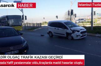 İSTANBULDA TRAFİK KAZASI
