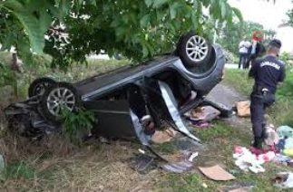 Samsun-Ordu Karayolunda Trafik Kazası, Otomobil Takla Attı, 1 Ölü, 4 Yaralı