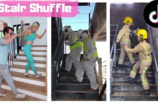 Stair Shuffle TIKTOK Dance Challenge