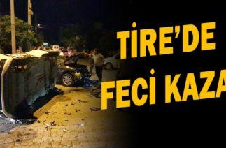 Tire'de çevreyolunda trafik kazası