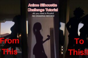 Anime silhouette tiktok challenge TUTORIAL/ HOW TO