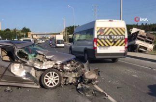 Arnavutköy-Sultangazi Çevreyolunda Trafik Kazası