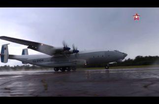 Dünyanın en büyük turboprop uçağı Antonov An-22 test uçuşu gerçekleştirdi