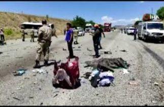 Elazığ'da katliam gibi kaza çok sayıda yaralı!