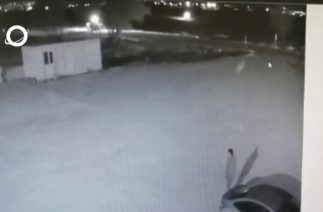 Elbistan'daki trafik kazası kameralara böyle yansıdı