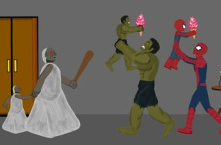 Granny vs Hulk, SpiderMan Funny Animation – Drawing Cartoons 2 HD