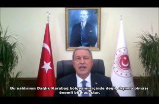 Hulusi Akar, Washington merkezli düşünce kuruluşuna Ermenistan'ın saldırısını anlattı