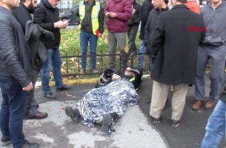 Kaza yapan motosikletli polise yardım seferberliği
