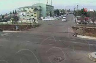 Kilis'te trafik kazaları güvenlik kameralarına yansındı