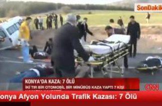 Konya Afyon Yolunda Trafik Kazası: 7 Ölü