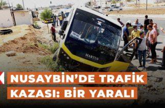 Nusaybin'de trafik kazası: Bir yaralı