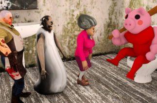Piggy Roblox Vs Scary Teacher, Granny, Ice Scream Funny – Roblox Piggy Animation