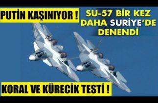 SU-57'LER TÜRK SINIRINDA DENENİYOR ! KORAL VE KÜRECİK RADARI TESPİT EDECEK Mİ DİYE TEST YAPILDI !