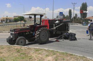 Sungurlu'da Trafik Kazası, Motosiklet Traktöre Çarptı; 1 Ölü