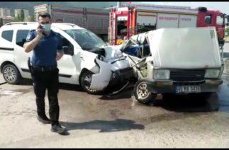Trafik kazası 3 Ağır yaralı