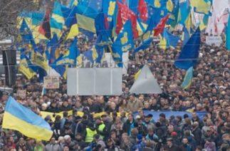 Ukrayna halkı meydanlarda