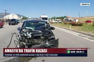 AMASYA'DA TRAFİK KAZASI