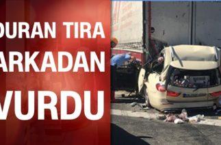 Ankara'da feci kaza! Duran tıra arkadan çarptı, 5 kişi hayatını kaybetti!