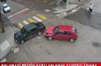 BOLU'DAKİ TRAFİK KAZALARI KGYS KAMERALARINDA (18.08.2020)