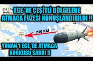 EGE 'DE ÇEŞİTLİ BÖLGELERE ATMACA FÜZESİ KONUŞLANDIRILDI !!!