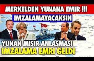 EMİR GELDİ !!! SICAK GELİŞME: MERKEL'DEN YUNANA MISIR EMRİ GELDİ !!!