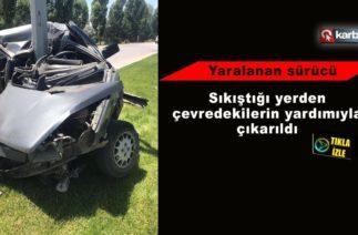 Erzurum'da trafik kazası 1 kişi yaralı
