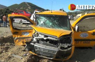 Isparta'da trafik kazası : 5 yaralı