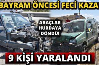 Kırıkkale'de Zincirleme Trafik Kazası: 9 Yaralı